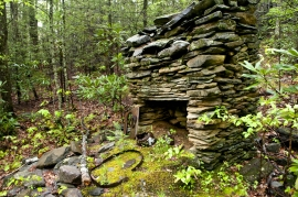 Barnes house chimney, chimney ruins, Smokey Mountains, Tennessee, old stone homes