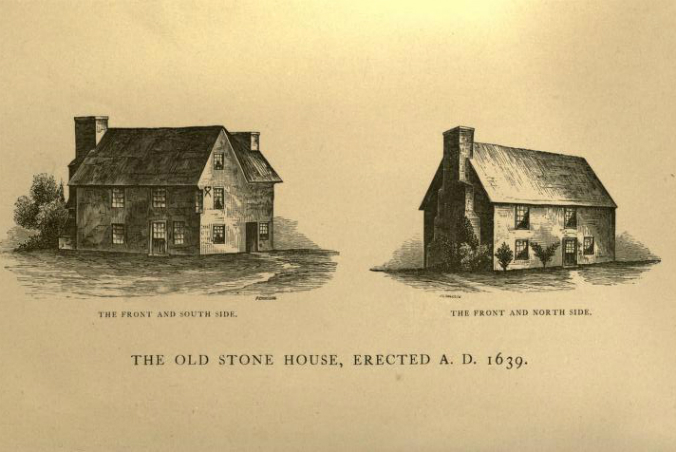 Henry Whitfield House Guilford CT Early Illustration