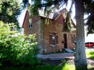 Old stone home in Idaho Falls, ID