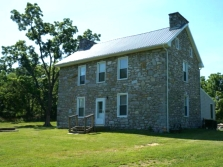 Colonial stone home in West Virginia