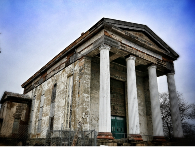 Newburgh Dutch Reformed Church, Greek Revival Style, Alexander Jackson Davis, fieldstone church
