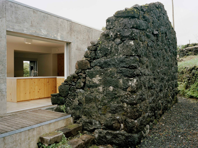 old basalt stone ruins, new home in old stone ruins, adaptive reuse