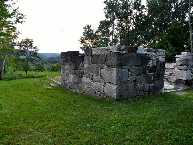 old marble structure, stone ruins, Alford, MA