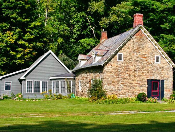 Old Stone Home Dutch Colonial Van Deusen Family Massachusetts Berkshire Historic