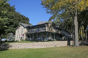Old stone home, Germantown, Wisconsin, Greek Revival style