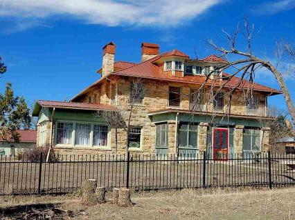 WS Ranch House, Cimarron, New Mexico, Palisades Rock, historic homes of Cimarron