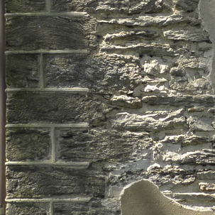 decorative quoins at the corners of the building, Cliveden, Philadelphia, old stone home
