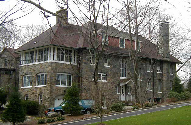 Stone mansion, Fieldston Historic District, Bronx, New York, old stone home