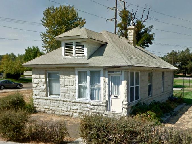 River Street neighborhood, old stone home, sandstone, Boise, Idaho, Erma Andre Madry Hayman