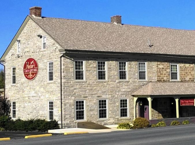 Historic stone tavern, LeVan Tavern, Kemp Hotel, Kutztown, Pennsylvania, old stone homes