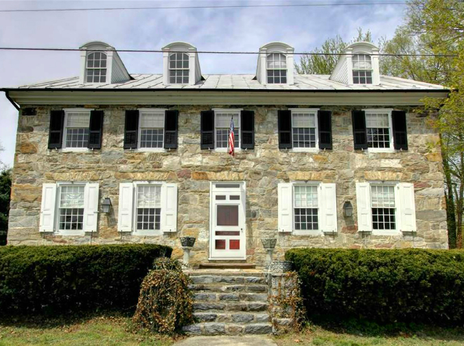 Historic stone tavern, Cumberland Hall, Moore's Tavern, Carlisle, Pennsylvania, old stone homes, Early American tavern