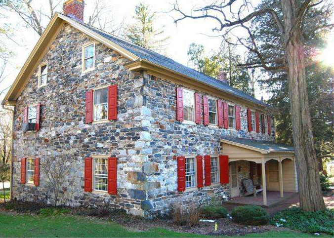 Gechter Tavern, old stone tavern, Early American tavern, Reading, Pennsylvania, old stone homes