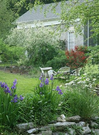 Berkshires landscape, Massachusetts, Old Stone School Guest Cottage