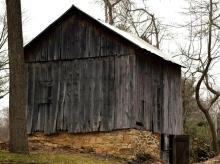Old barn, Ellicott City, Maryland, stone foundation, barn foundation