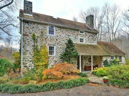 Old stone millhouse, Pennsylvania stone home, Early American home, colonial-era homes