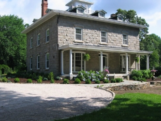 Gen. Isaac Peace Rodman House, old historic stone mansion, South Kingston, Rhode Island