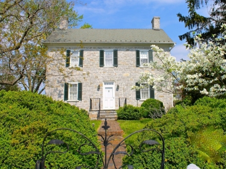 Old stone home, Virginia, early American home, colonial era home, 1770