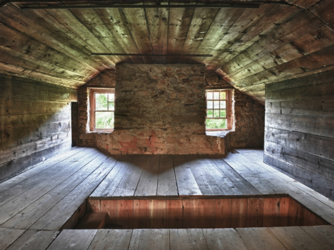 Attic level, Rock House,Thomson, Georgia, old stone home, oldest stone home in Georgia