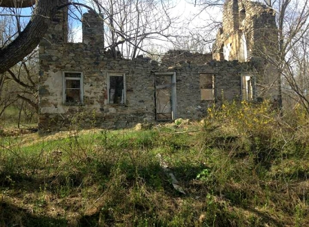 Old Stone Ruins, Upper Bucks County, Pennsylvania, Remains of Old stone farmhouse, old stone houses