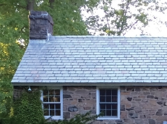 Slate roof, Speer house, old stone house, Rockland County, New York, restoration, renovation