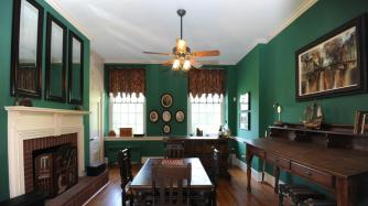 Baltimore County Schoolhouse No. 3, formal dining room, old stone schoolhouse, historic home