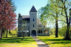 Old stone home, stone castle, Palatine, New York, historic home