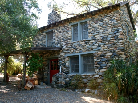 Trabuco Canyon Stone Home Front Yard, old stone homes, California homesteaders