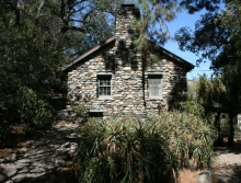 Trabuco Canyon old stone home, stone chimney, California homesteaders