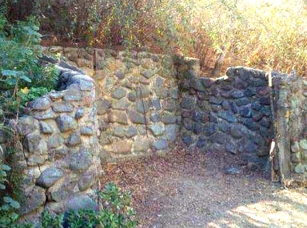 Old Stone Garden Wall