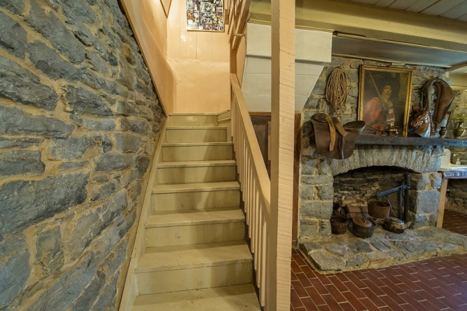 Peter Range Sr. House, interior stonework, Johnson City, Knob Creek, old stone house, old stone homes for sale, historic homes, masonry