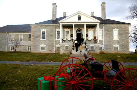Belle Grove Plantation, Middleton, Virginia, Christmas holiday tour, holiday home tour, old stone home, old stone house