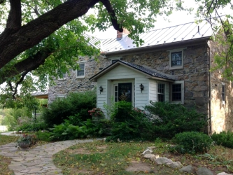 Quaker-built, circa-1776 old stone farmhouse, Purcellville, Virginia, old stone homes for sale, old stone house, old stone cottage
