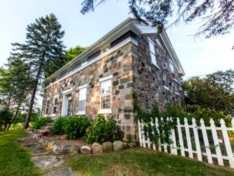 Circa-1845 stone home, Hillsdale, Michigan, old stone homes for sale, old stone house, old stone cottage