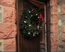 Kip's Castle, New Jersey, Front Door, holiday home tour, Christmas home tour, old stone home, old stone house, old stone castle