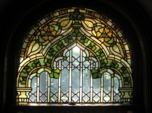 Kip's Castle, New Jersey, Stained Glass Window, holiday home tour, Christmas home tour, old stone home, old stone house, old stone castle