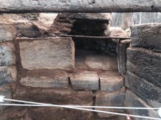 Wrought Iron Lintel, bake oven, old stone chimney, old stone fireplace, Rhode Island, early America, stone masonry, old stone houses, architect Leonard J. Baum
