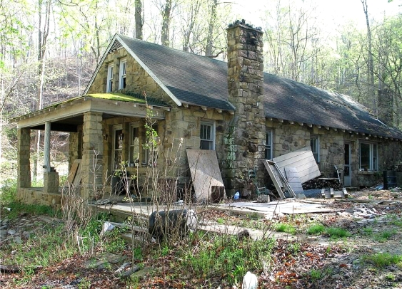 Image result for an old cottage in the woods