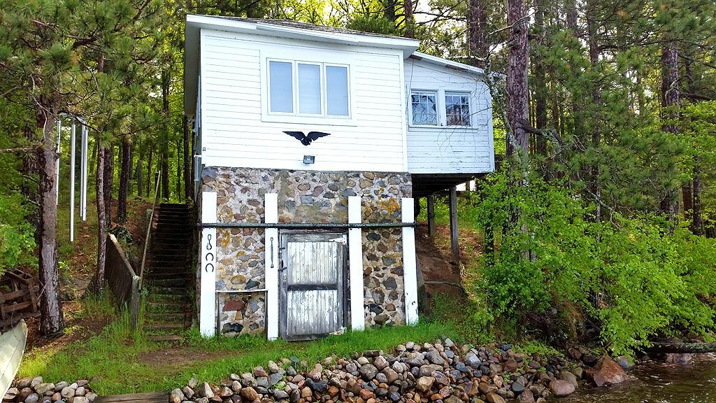 wood and stone boathouse pine lake wisconsin | old stone houses