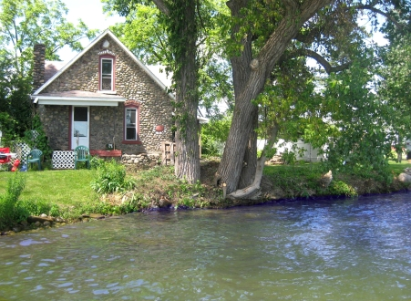 Old stone homes for sale, old stone houses for sale, Crystal Lake, Crystal, Michigan, lakefront properties, waterfront homes, Michigan waterfront homes