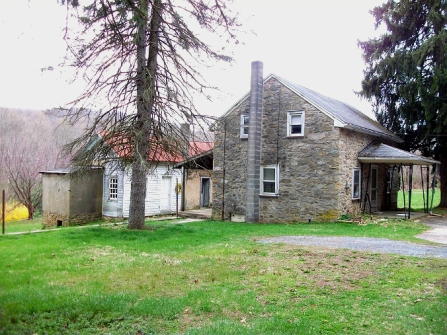 Old Stone Cottage for sale Fleetwood Pennsylvania, old stone homes for sale, old stone houses for sale, historic properties, farmland