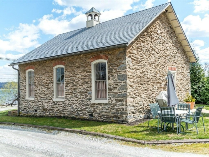 Stone Schoolhouse Wrightsville Pennsylvania, old stone cottage for sale, old stone homes for sale, old stone houses for sale, historic properties, Susquehanna River, waterfront properties