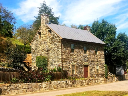 Historic 1780 Stone House Lexington Virginia, old stone homes, old stone houses, vacation homes, historic properties
