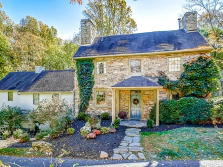 old stone homes for sale, old stone houses for sale, Baltimore, Maryland, historic properties, colonial homes, front yard