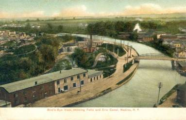 Historic Medina New York, Erie Canal, vintage postcard