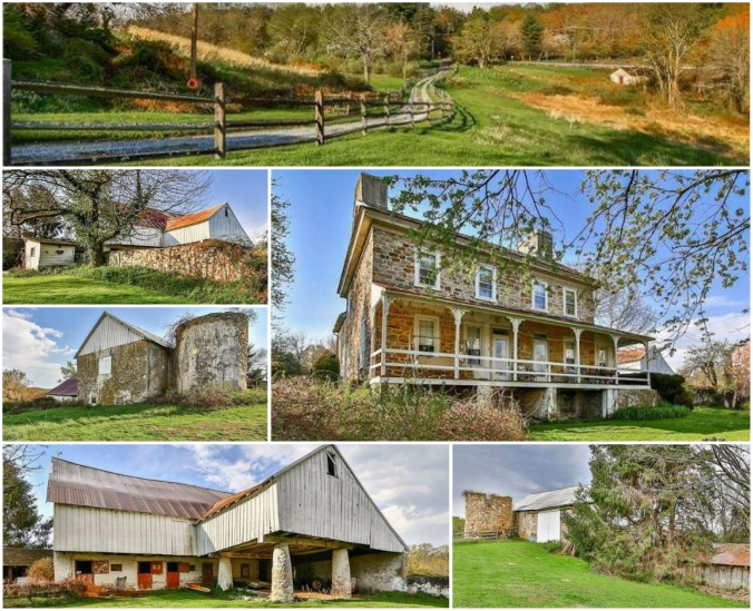 Old stone homes for sale, Coatesville, Pennsylvania, 1410 Manor Rd., endangered properties, old stone barns