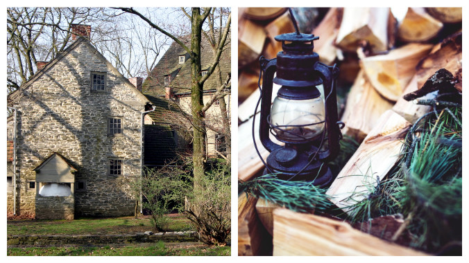 Ephrata Cloister Lancaster County Pennsylvania Lantern Tours old stone homes old stone houses holiday events