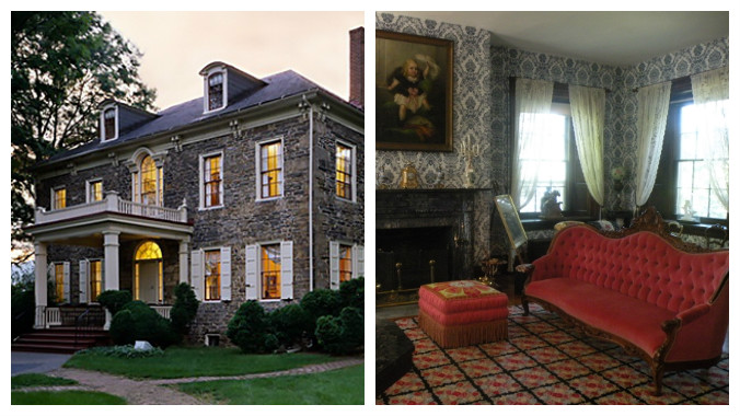 Fort Hunter Mansion, Harrisburg, Pennsylvania, Christmas tours, old stone homes, old stone houses
